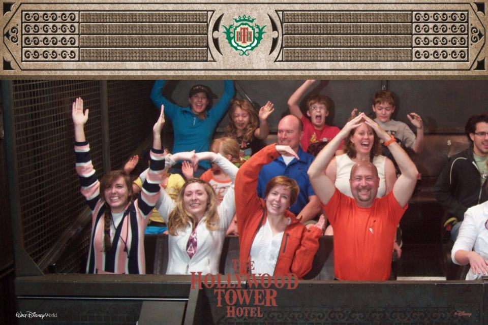 This is how my family rides Disney's Tower of Terror