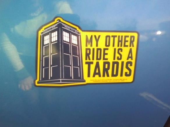 My commute would be so much easier if that were true. (Yes, this is an actual magnet on my car. I'm awesome.)